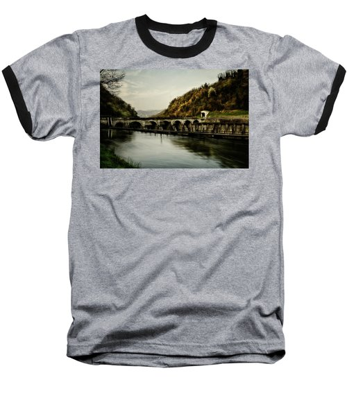 Dam On Adda River Baseball T-Shirt