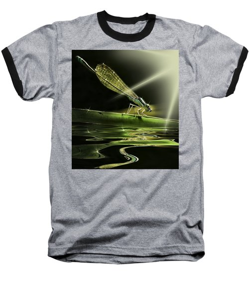 Damsel Dragon Fly  With Sparkling Reflection Baseball T-Shirt