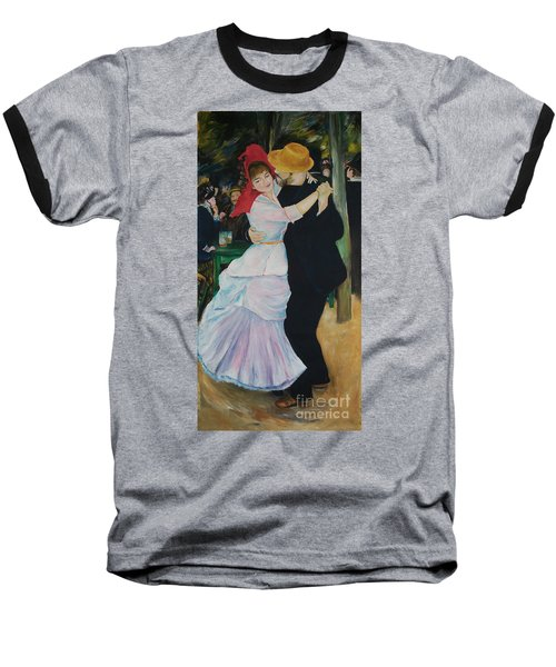 Baseball T-Shirt featuring the painting Dance At Bougival Renoir by Eric  Schiabor