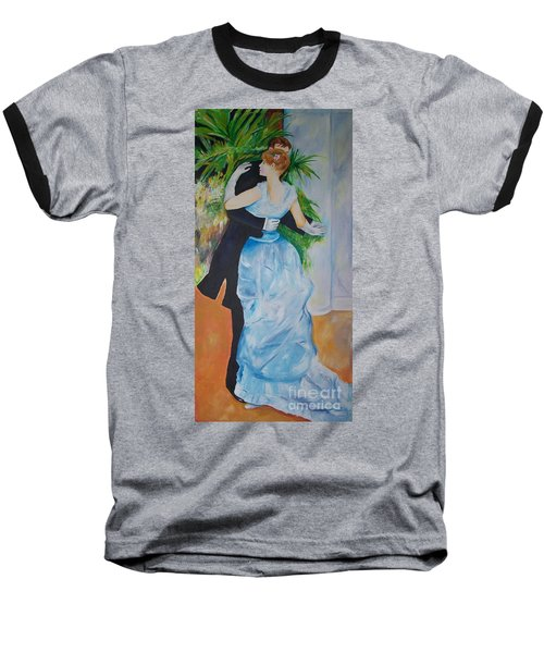 Baseball T-Shirt featuring the painting Dance In The City  by Eric  Schiabor