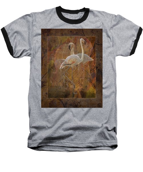 Dance Of The Flamingos Baseball T-Shirt