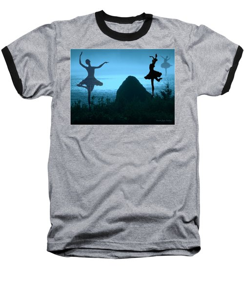 Baseball T-Shirt featuring the photograph Dance Of The Sea by Joyce Dickens