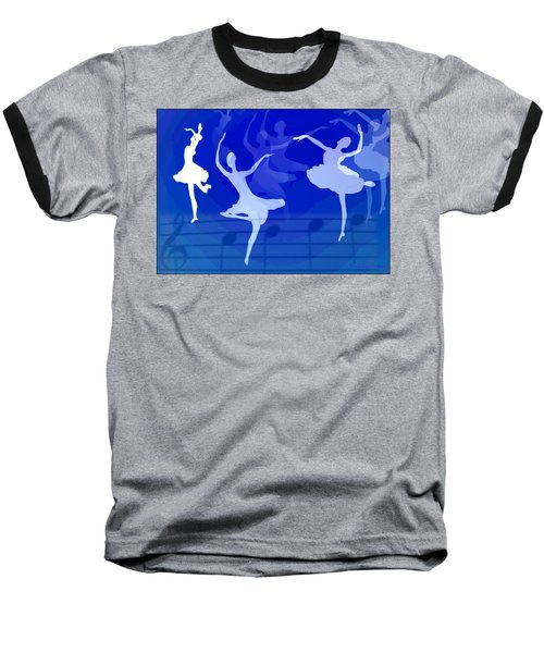 Dance The Blues Away Baseball T-Shirt by Joyce Dickens