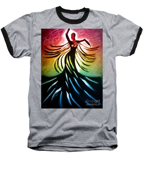 Dancer 3 Baseball T-Shirt by Anita Lewis