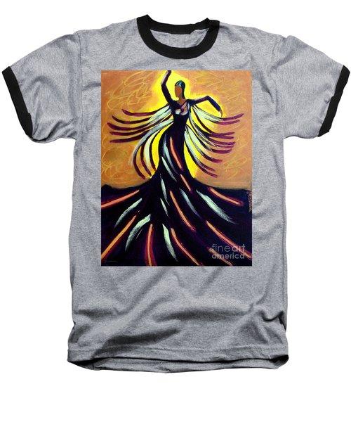 Dancer Baseball T-Shirt by Anita Lewis