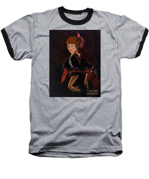 Baseball T-Shirt featuring the painting Dancer by Jenny Lee
