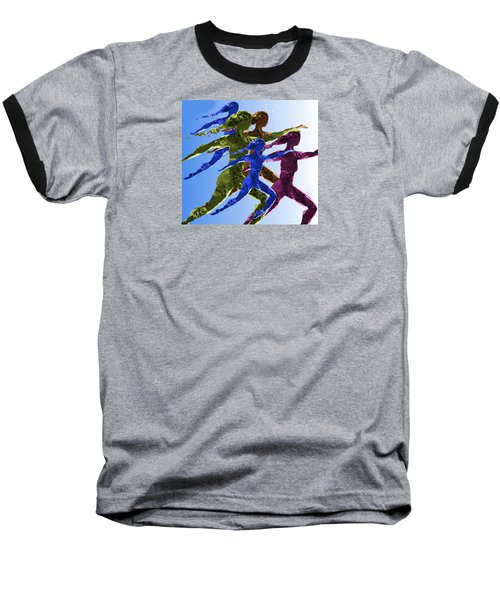 Dancers Baseball T-Shirt by Mary Armstrong