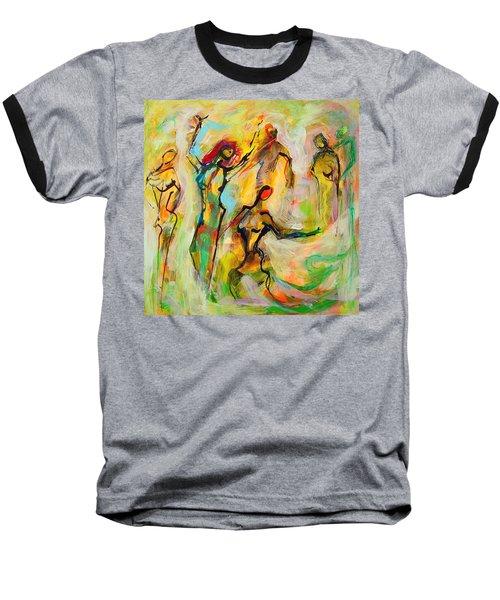 Dancers Baseball T-Shirt by Mary Schiros