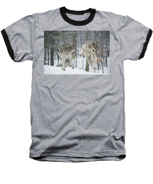 Baseball T-Shirt featuring the photograph Dances With Wolves by Wolves Only