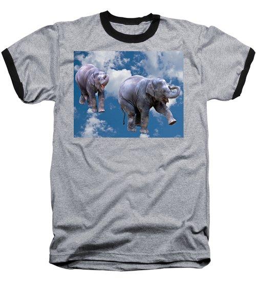 Dancing Elephants Baseball T-Shirt by Jean Noren