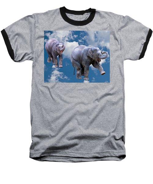 Dancing Elephants Baseball T-Shirt