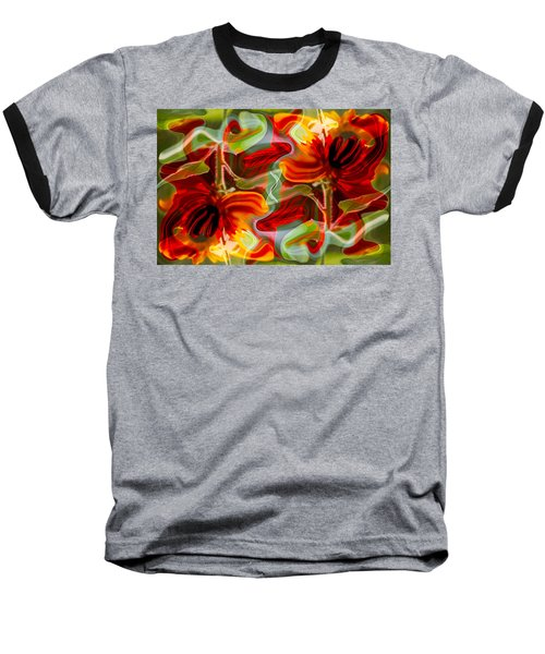 Dancing Flowers Baseball T-Shirt