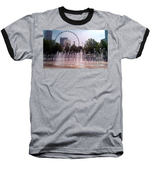 Dancing Fountains Baseball T-Shirt