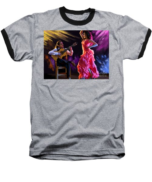Dancing Gypsy Woman Baseball T-Shirt