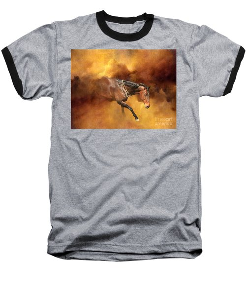 Dancing Free II Baseball T-Shirt by Michelle Twohig