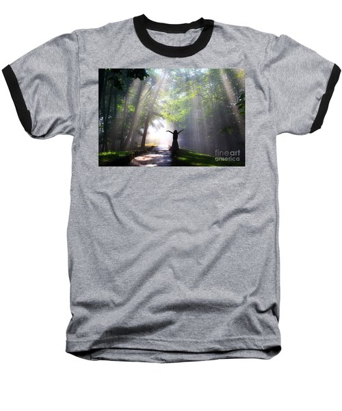 Dancing In God's Light Copyright Willadawn Photography Baseball T-Shirt