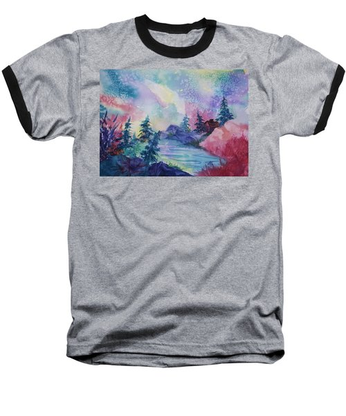 Dancing Lights II Baseball T-Shirt by Ellen Levinson