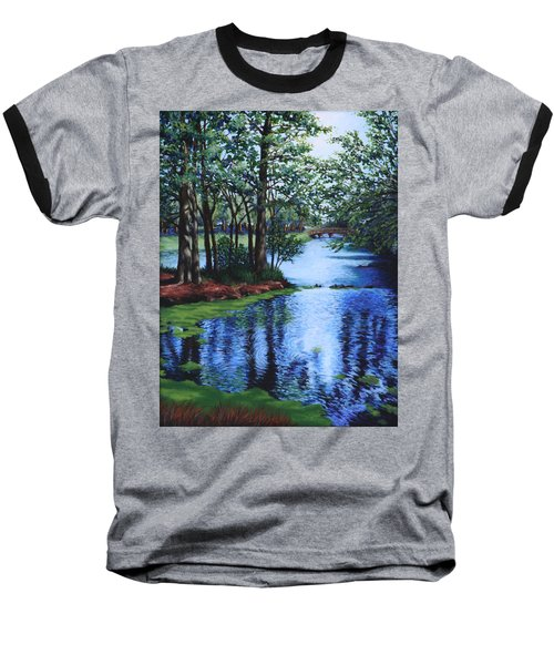 Baseball T-Shirt featuring the painting Dancing Waters by Penny Birch-Williams