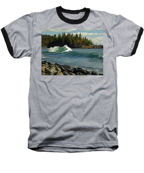 Baseball T-Shirt featuring the photograph Dancing Waves by James Peterson