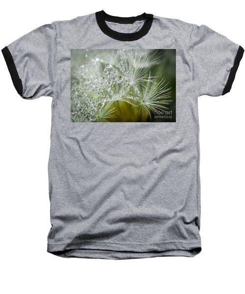 Dandelion Dew Baseball T-Shirt by Amy Porter