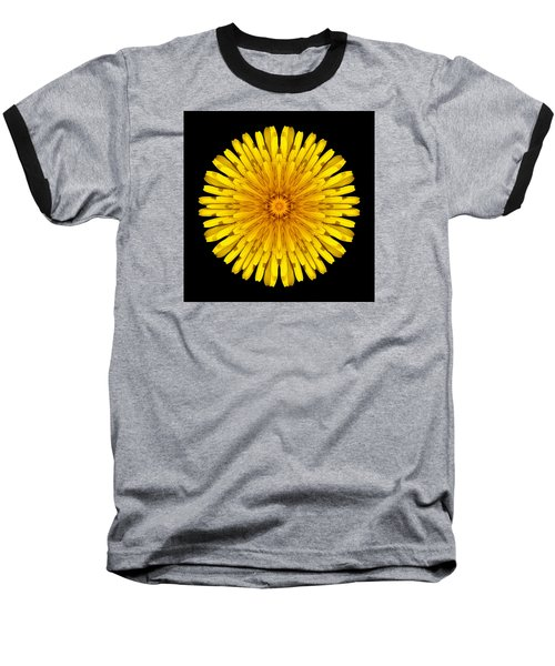 Dandelion Flower Mandala Baseball T-Shirt by David J Bookbinder