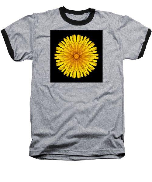 Dandelion Flower Mandala Baseball T-Shirt