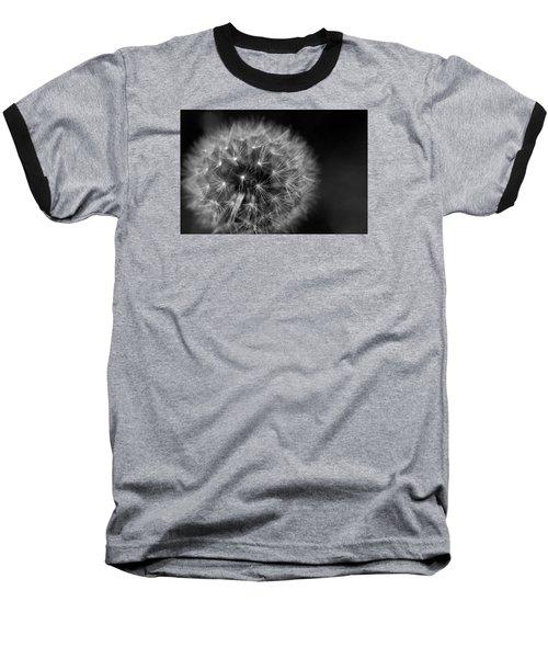 Dandelion Fluff Baseball T-Shirt by Rebecca Davis