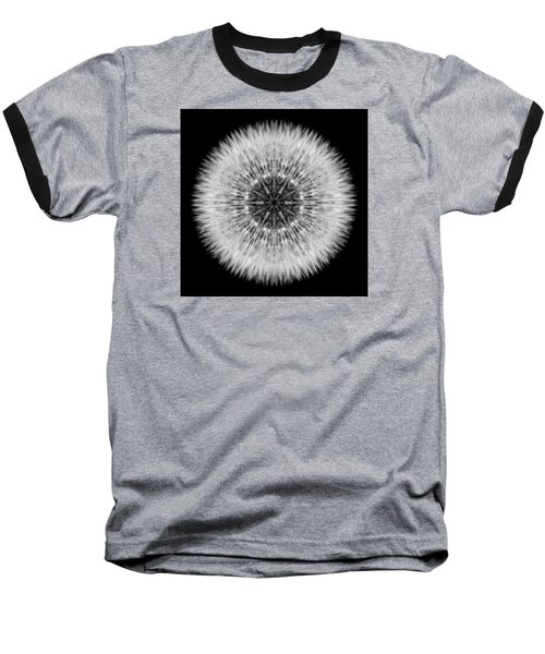 Dandelion Head Flower Mandala Baseball T-Shirt by David J Bookbinder