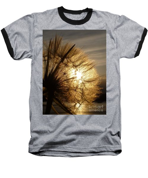Dandelion Sunset Baseball T-Shirt