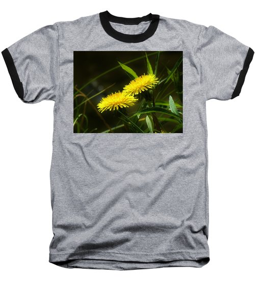 Baseball T-Shirt featuring the photograph Dandelions by Sherman Perry