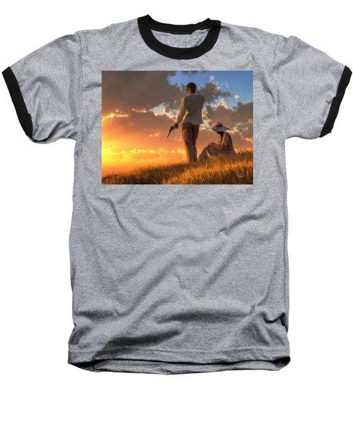 Danger At Sundown Baseball T-Shirt