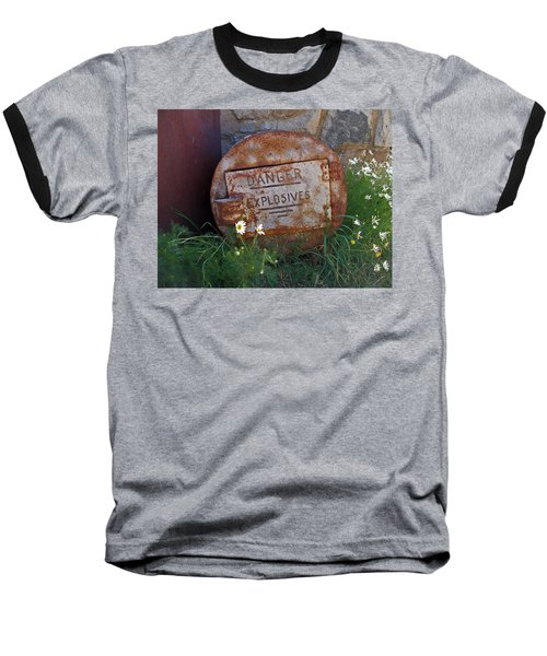 Danger Explosives Baseball T-Shirt