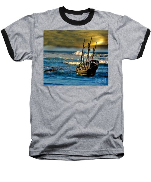 Dangerous Waters Baseball T-Shirt