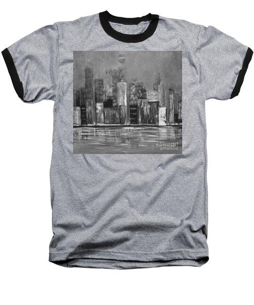Dark Clouds Over The City Baseball T-Shirt