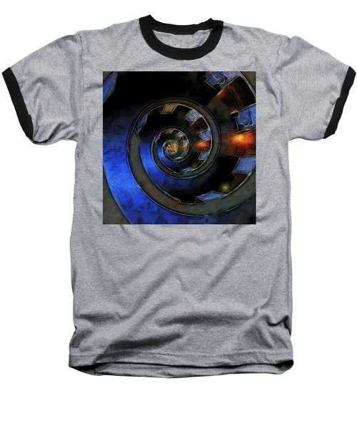 Dark Hallway Down Baseball T-Shirt