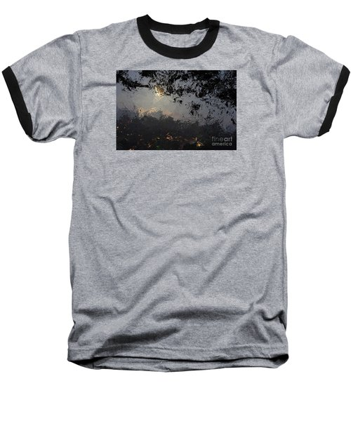 Dark Rain Baseball T-Shirt by The Art of Alice Terrill