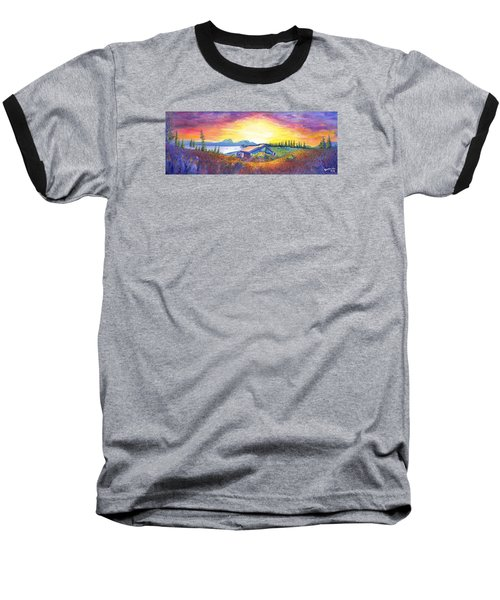 Baseball T-Shirt featuring the painting Dark Star Orchestra Dillon Amphitheater by David Sockrider