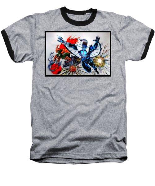 Darkhawk Vs Hobgoblin Focused Baseball T-Shirt