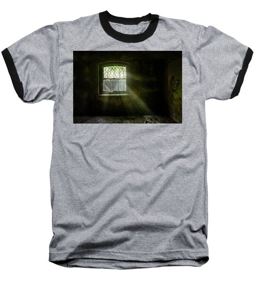 Darkness Revealed - Basement Room Of An Abandoned Asylum Baseball T-Shirt