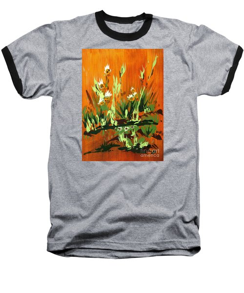 Baseball T-Shirt featuring the painting Darlinettas by Holly Carmichael