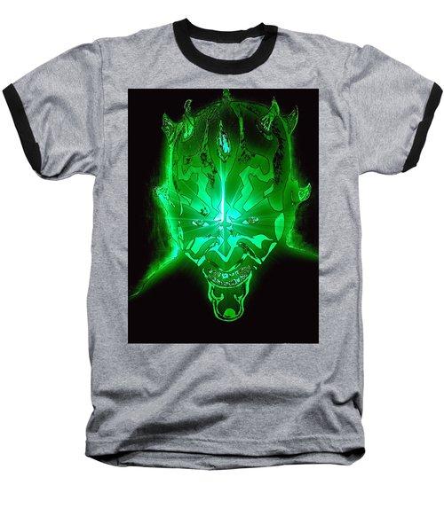 Darth Maul Green Glow Baseball T-Shirt by Saundra Myles