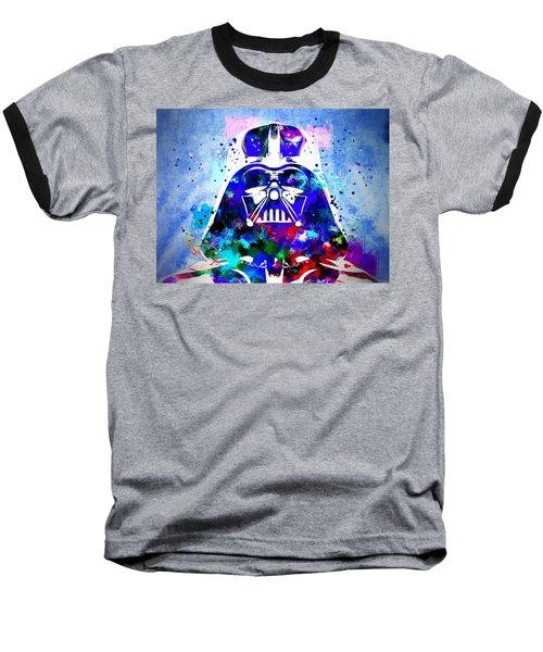 Darth Vader Star Wars Baseball T-Shirt by Daniel Janda