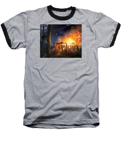 Darth Vader's Funeral Pyre Baseball T-Shirt