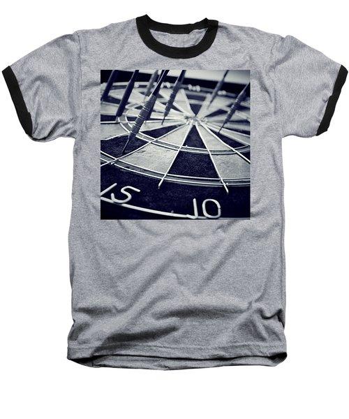 Darts Anyone Baseball T-Shirt by Trish Mistric