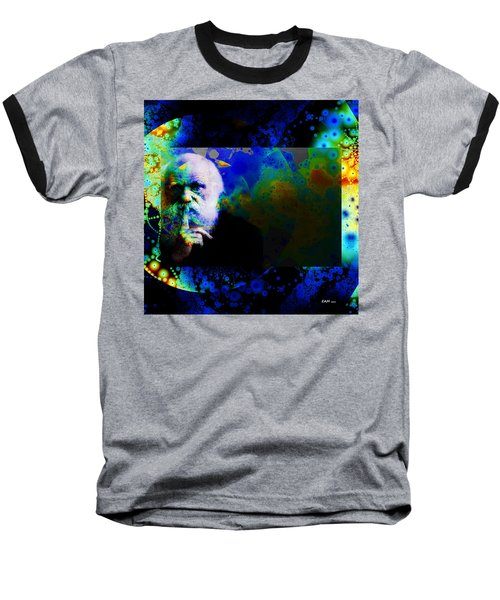 Darwinism Baseball T-Shirt by Elizabeth McTaggart