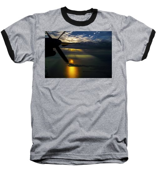Dash Of Sunset Baseball T-Shirt by Greg Reed