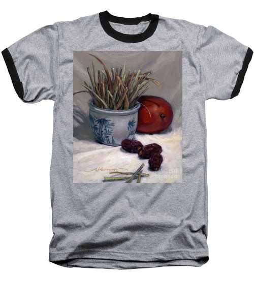 Dates Lemongrass And Mango Baseball T-Shirt