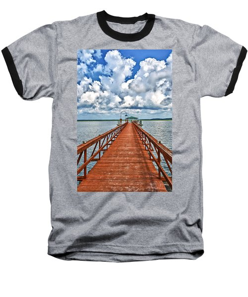 Daufuskie Pier Baseball T-Shirt