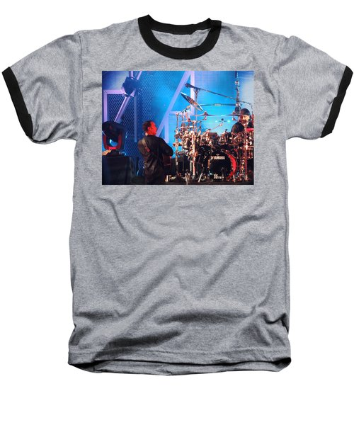 Baseball T-Shirt featuring the photograph Dave Looks At Carter by Aaron Martens
