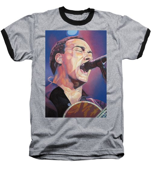 Dave Matthews Colorful Full Band Series Baseball T-Shirt by Joshua Morton